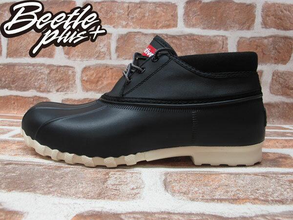 BEETLE PLUS 2014 全新 NATIVE JIMMY MID JIFFY BLACK 黑 奶油底 短筒 獵鴨靴 超輕量 防水鞋 GLM15B-001