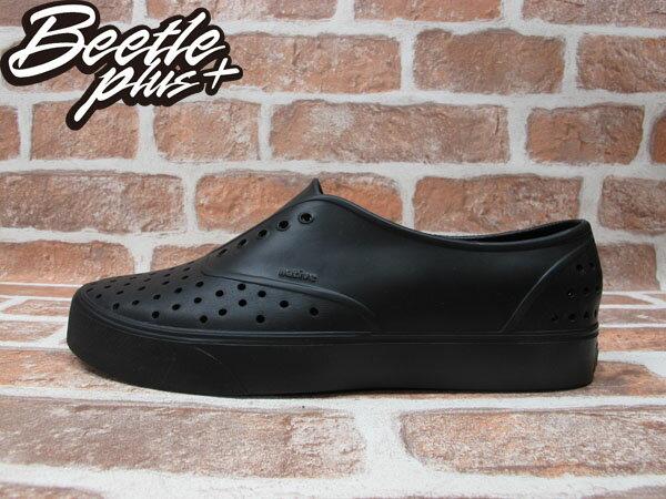 BEETLE PLUS 西門町經銷 全新 NATIVE MILLER JIFFY BLACK SOLID 全黑 便鞋 超輕量 GLM02-079 0