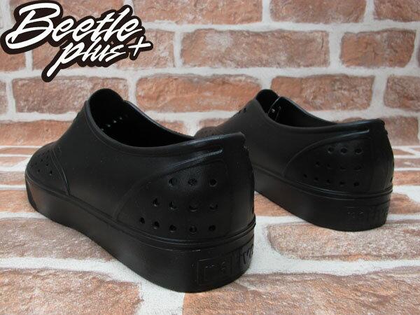 BEETLE PLUS 西門町經銷 全新 NATIVE MILLER JIFFY BLACK SOLID 全黑 便鞋 超輕量 GLM02-079 2