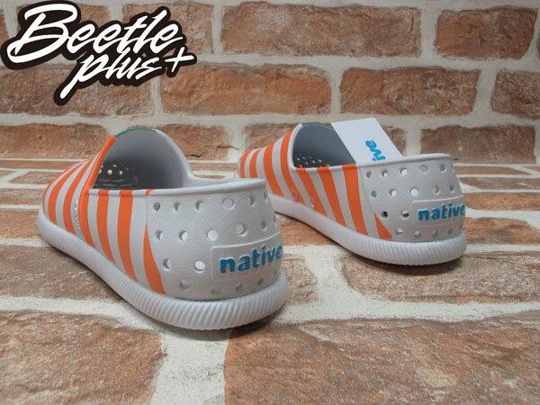 BEETLE PLUS 全新 2014 春夏 NATIVE VERONA SHELL WHITE / CANTALOUPE PINK STRIPES 橘白 條紋 GLM18-105 2