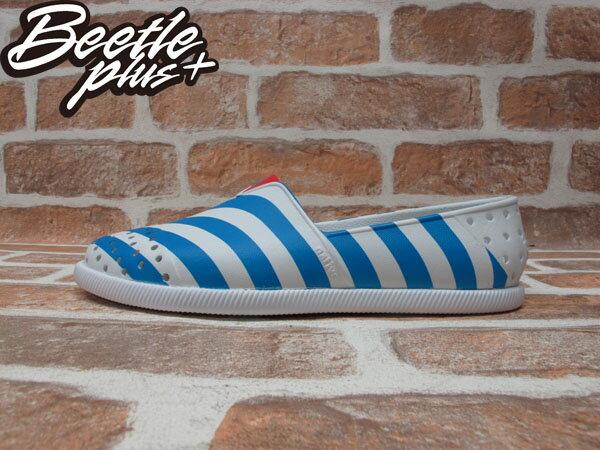 BEETLE PLUS 全新 2014 春夏 NATIVE VERONA SHELL WHITE / GALAXY BLUE STRIPES 藍白 條紋 海軍風 GLM18-106 0