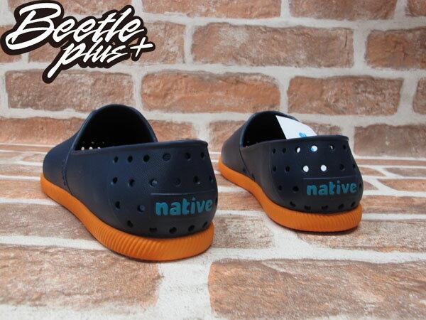BEETLE PLUS 西門町 全新 NATIVE VERONA REGATTA BLUE ORANGE 水手鞋 深藍 橘 藍莓 柑橘蘇打 GLM18-493 2