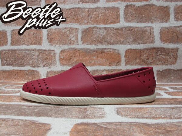 BEETLE PLUS 全新 經銷商 2014 春夏最新 NATIVE VERONA 紅 酒紅 輕量 奶油底 水手鞋 TOMS GLM18-610 0