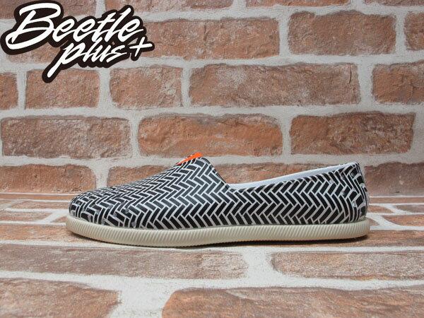 BEETLE PLUS 經銷商 2014 春夏最新 NATIVE VERONA 橘 黑白 條紋 幾何 奶油底 水手鞋 TOMS GLM18P-993 0