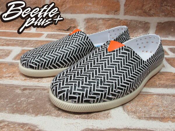 BEETLE PLUS 經銷商 2014 春夏最新 NATIVE VERONA 橘 黑白 條紋 幾何 奶油底 水手鞋 TOMS GLM18P-993 1