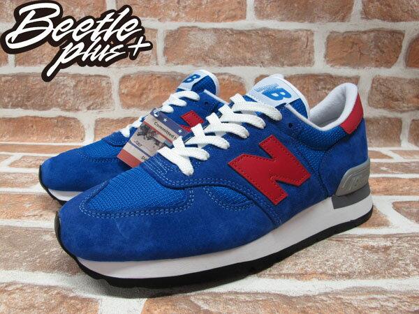 BEETLE PLUS 全新 NEW BALANCE 寶藍 紅N 慢跑鞋 麂皮 網面 30週年 英國限量 M990SB 1