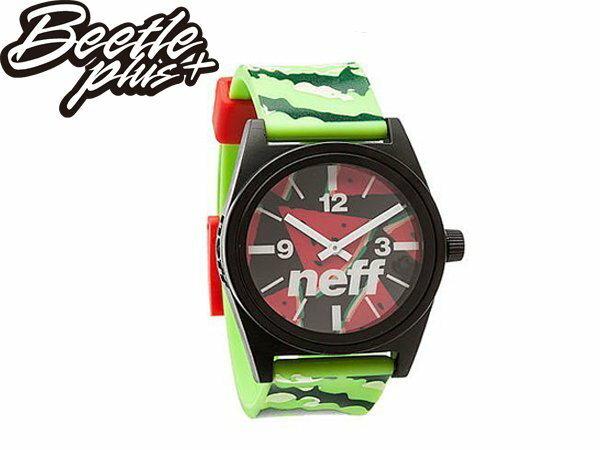 BEETLE PLUS NEFF DAILY WILD WATCH WATERMELON 西瓜 綠 紅 指針 圓錶 手錶 NF-125