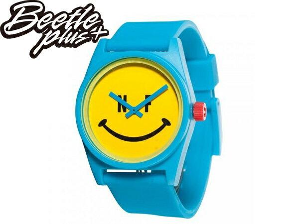 BEETLE PLUS 美國潮牌 NEFF DAILY WATCH HAPPY 笑臉 微笑 笑臉 藍黃 黃藍 指針錶 圓錶 防潑水 手錶 SWATCH - 限時優惠好康折扣