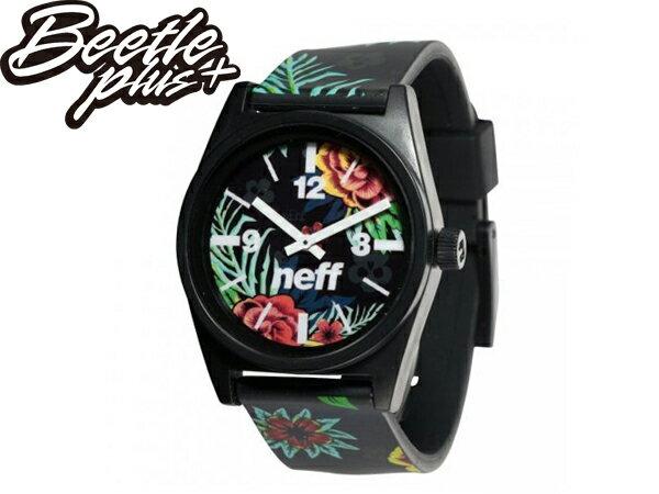 BEETLE PLUS NEFF DAILY WILD WATCH ASTRO FLORAL 花卉 扶桑花 全黑 指針錶 手錶 SWATCH 0
