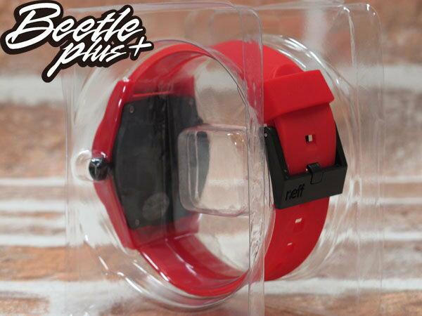 BEETLE PLUS 西門町 經銷 全新 現貨 美國潮牌 NEFF DAILY WATCH RED 全紅 黑色指針 圓錶 指針手錶 NF-49 2