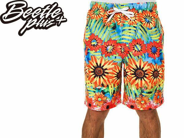 BEETLE PLUS 經銷 全新 美國品牌 NEFF SHORT SUNFLOWER 花卉 春神 沙灘 衝浪 海灘褲 向日葵 NF-91 0