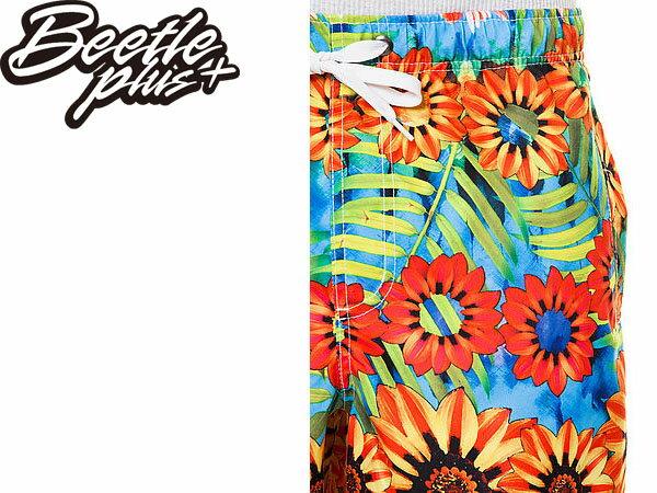 BEETLE PLUS 經銷 全新 美國品牌 NEFF SHORT SUNFLOWER 花卉 春神 沙灘 衝浪 海灘褲 向日葵 NF-91 2