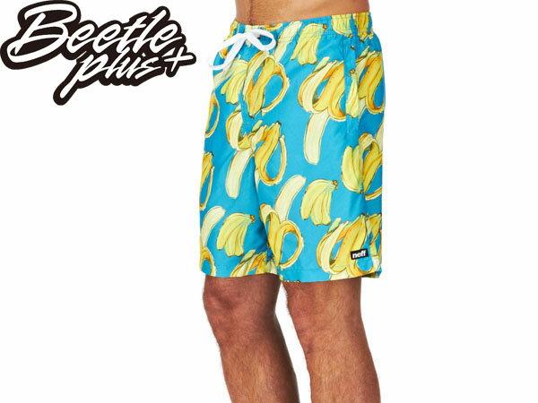 BEETLE PLUS 經銷 全新 美國品牌 NEFF SHORT GOING BANANAS 沙灘 陽光 衝浪 香蕉 海灘褲 魔鬼氈 NF-92 - 限時優惠好康折扣