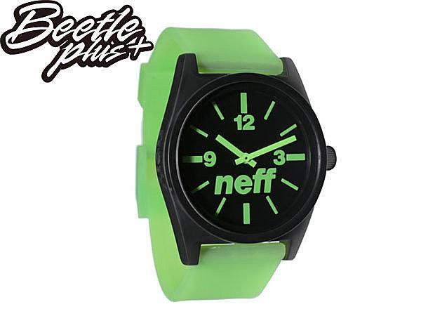 BEETLE PLUS NEFF DAILY WATCH BLACK GREEN 黑綠 指針 基本款 手錶 圓錶 NF-107 - 限時優惠好康折扣