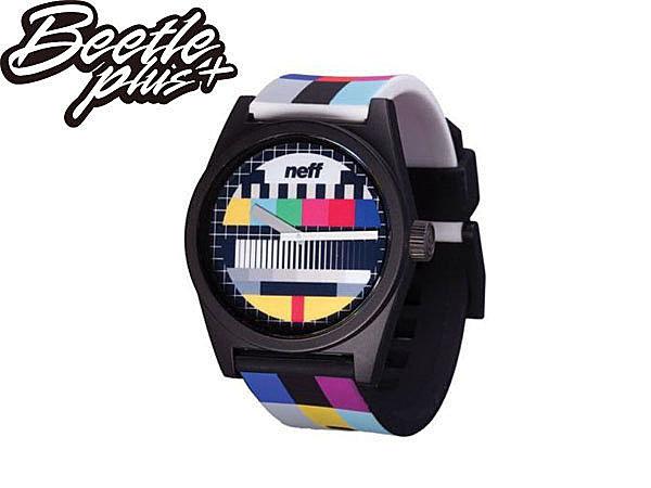BEETLE PLUS NEFF DAILY WILD WATCH 電視 收播 收訊 彩色 黑白 指針 手錶 圓錶 NF-112 - 限時優惠好康折扣