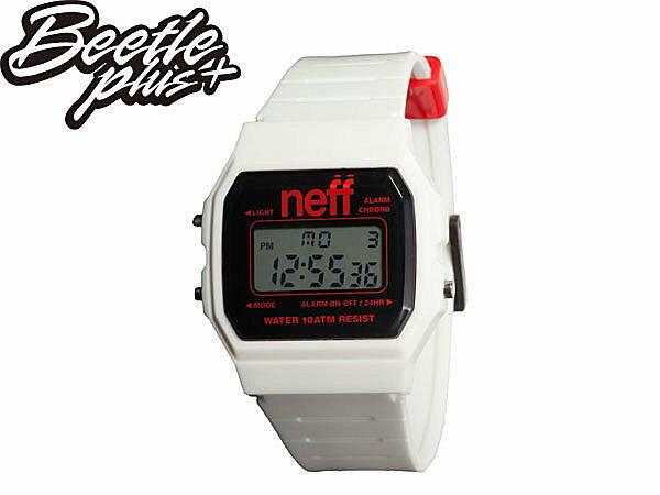 BEETLE PLUS NEFF FLAVA XL WATCH 白 黑 紅 芝加哥 電子錶 防潑水手錶 NF-119 - 限時優惠好康折扣