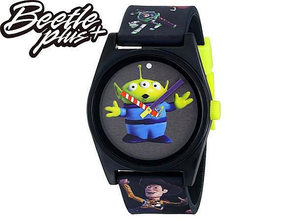 BEETLE PLUS NEFF TOY STORY DAILY 三眼怪 胡迪 巴斯光年 玩具總動員 黑 螢光 指針 手錶 WATCH NF-99 - 限時優惠好康折扣