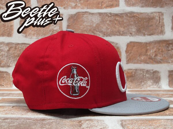 BEETLE PLUS 全新 NEW ERA SNAPBACK ENJOY COKE 可口可樂 電繡字 LOGO 紅灰 後扣棒球帽 NE-73 1