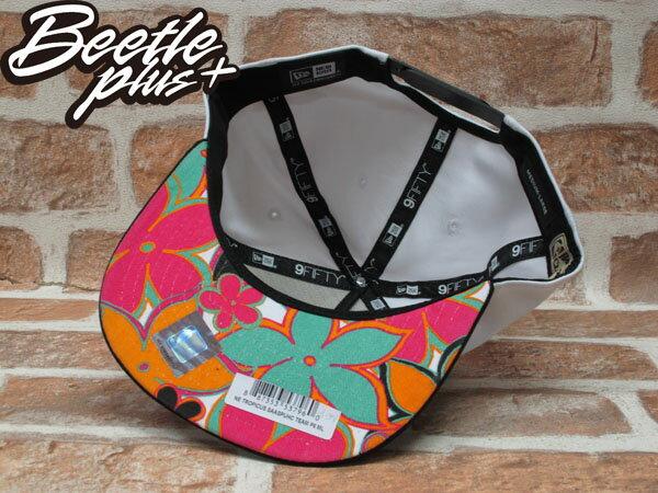 BEETLE PLUS NEW ERA NBA 聖安東尼奧馬刺 SPURS 白黑 花卉 水彩 電繡立體隊徽 後扣棒球帽 SNAPBACK NE-80 2