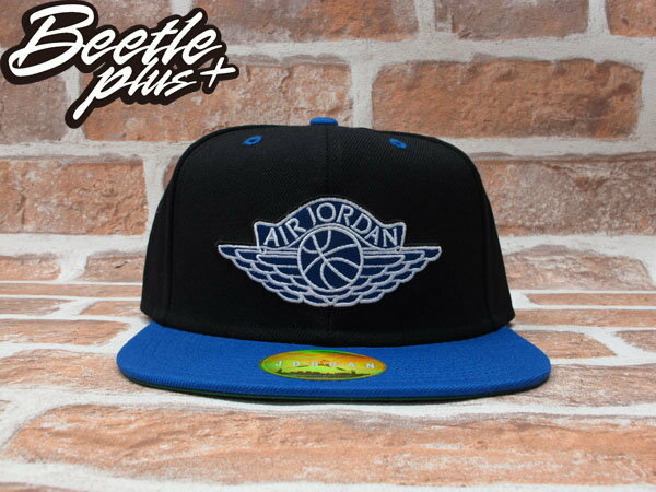 BEETLE PLUS NIKE AIR JORDAN SNAPBACK AJ1 黑藍 翅膀 LOGO 後扣棒球帽 519590-010 0