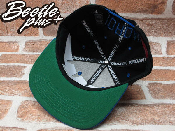 BEETLE PLUS NIKE AIR JORDAN SNAPBACK AJ1 黑藍 翅膀 LOGO 後扣棒球帽 519590-010 1