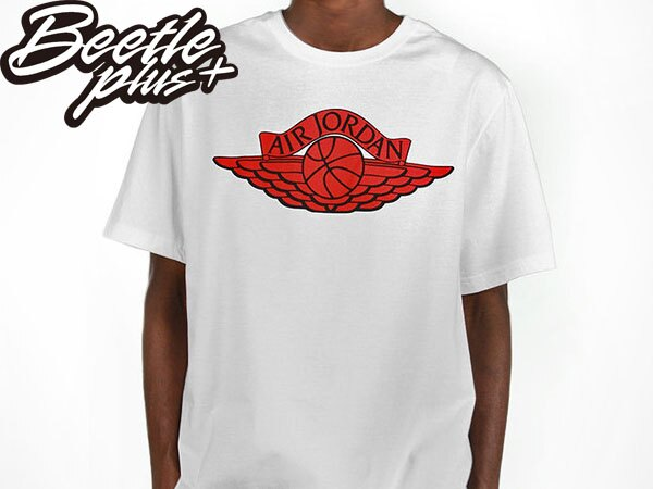 BEETLE PLUS 全新 現貨 NIKE AIR JORDAN WINGS LOGO TEE AJ 喬丹 翅膀 白紅 短TEE 558966-100 0