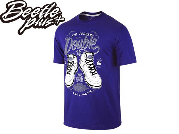 BEETLE PLUS 全新 現貨 NIKE AIR JORDAN DOUBLE UP 2代 AJ 23 紫白 棉質 運動 短TEE 615116-423 AJ-14 0