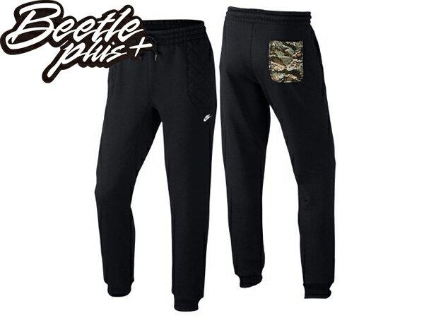 BEETLE PLUS NIKE KNOWS FB SWEATPANTS 全黑 口袋 數位迷彩 長褲 棉褲 縮口褲 624182-010