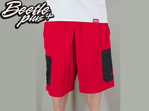 BEETLE NIKE BB HYBRID 6TH DORM SHORTS RED 紅黑 口袋 拉鍊 短褲 棉褲 球褲 1