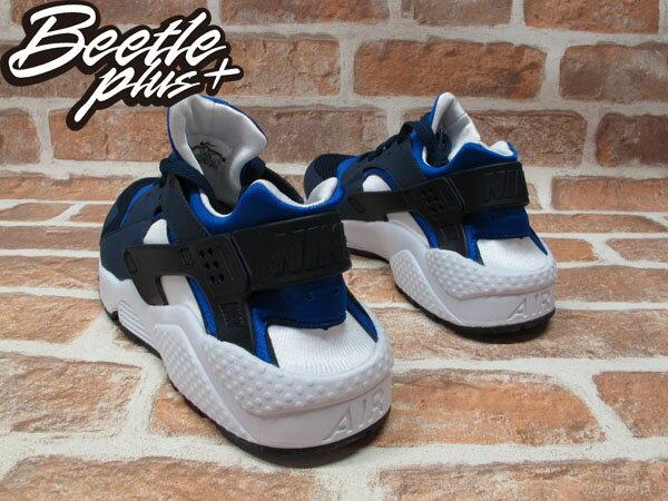 BEETLE PLUS NIKE AIR HUARACHE 藍白 黑白 達拉斯 小牛隊 忍者鞋 慢跑鞋 武士 RONDO DIRK NOWITZKI 318429-442 2