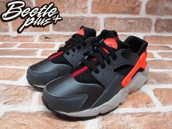 BEETLE PLUS NIKE AIR HUARACHE RUN GS 灰 橘紅 武士GD 忍者鞋 女鞋 慢跑鞋 654275-004 1