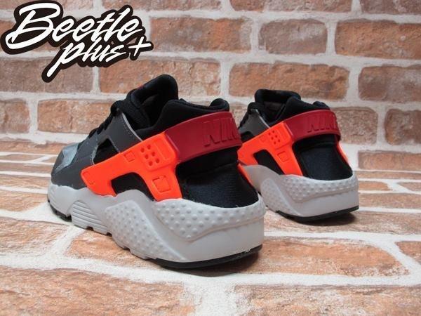 BEETLE PLUS NIKE AIR HUARACHE RUN GS 灰 橘紅 武士GD 忍者鞋 女鞋 慢跑鞋 654275-004 2