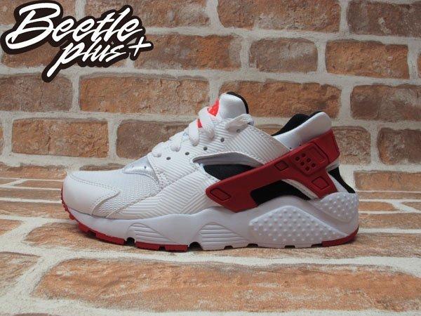 BEETLE+NIKE AIR HUARACHE RUN GS 白黑紅 慢跑鞋 公牛 女鞋 654275-102 0