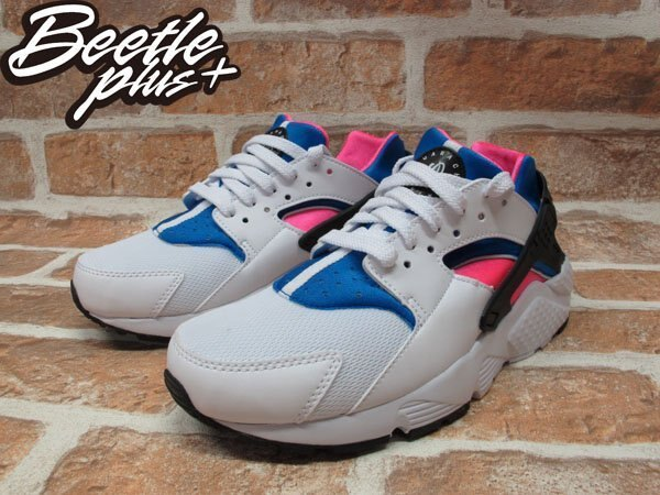 BEETLE NIKE AIR HUARACHE RUN GS 白粉藍 原版 OG 女鞋 白武士 忍者鞋 輕量 慢跑鞋 654275-104 1