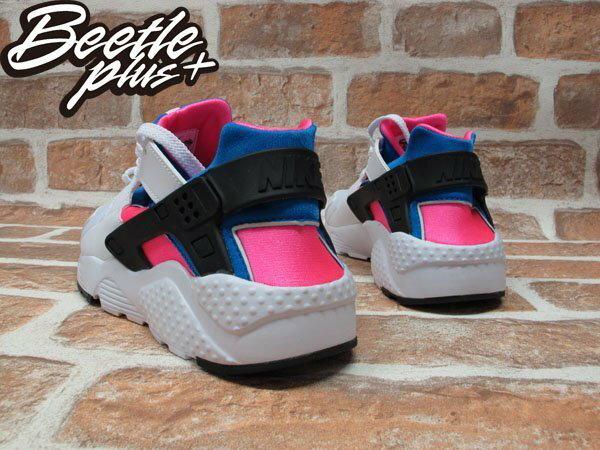 BEETLE NIKE AIR HUARACHE RUN GS 白粉藍 原版 OG 女鞋 白武士 忍者鞋 輕量 慢跑鞋 654275-104 2