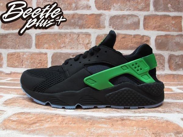 BEETLE PLUS NIKE AIR HUARACHE RUN FB 歐洲限定 毒藥綠 黑綠 武士鞋 忍者鞋 慢跑鞋 塞爾提克 705070-001