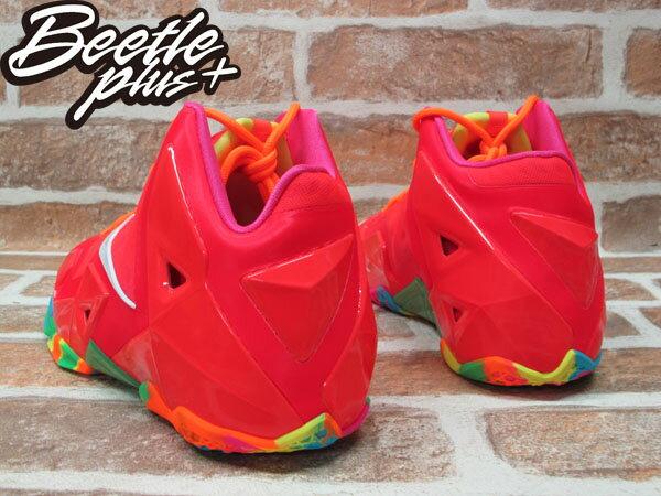 BEETLE PLUS 全新 NIKE LEBRON 11 XI GS FRUITY PEBBLES CANDY 桃紅 糖果 潑墨 女鞋 JAMES 621712-600 2