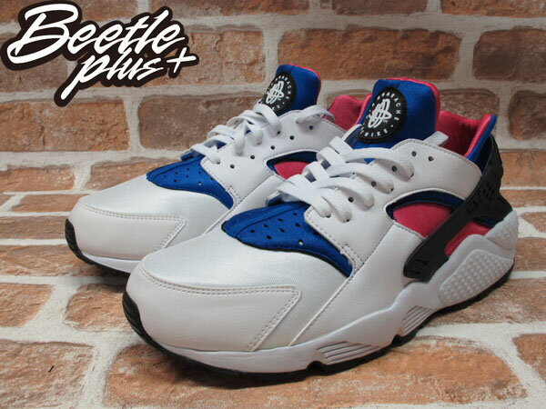 BEETLE PLUS 全新 NIKE AIR HUARACHE DYNAMIC PINK 白 粉紅 藍 NSW 318429-146 1