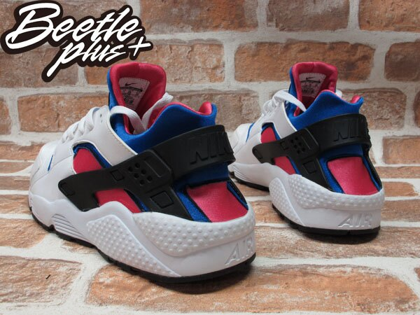 BEETLE PLUS 全新 NIKE AIR HUARACHE DYNAMIC PINK 白 粉紅 藍 NSW 318429-146 2