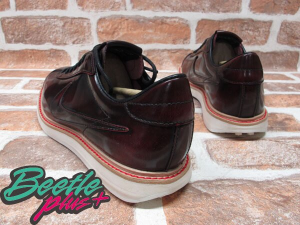 BEETLE PLUS 全新 NIKE SPORTWEAR 1972 QS NSW 車縫鞋底 皮革 皮鞋 酒紅 586367-600 2