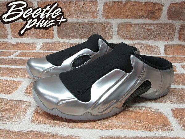 BEETLE PLUS 全新 NIKE SOLO SLIDE METALLIC SILVER 銀黑 太空 拖鞋 FOAMPOSITE 644585-002 1