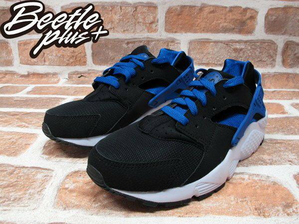 BEETLE PLUS NIKE AIR HUARACHE RUN GS 黑藍 慢跑 輕量 復古 忍者鞋 女鞋 654275-005 1