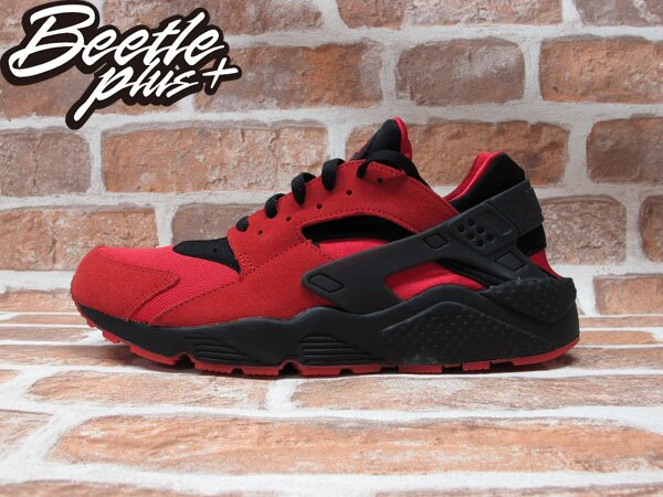 BEETLE PLUS NIKE AIR HUARACHE QS LOVE&HATE 紅黑 麂皮 愛與恨 700878-600 0