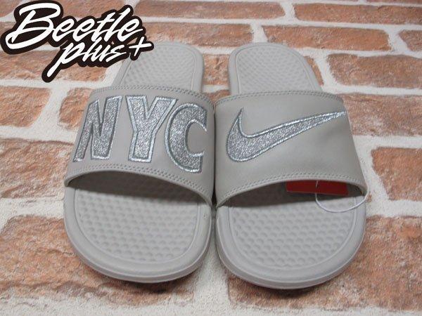BEETLE PLUS NIKE WMNS BENASSI JDI PRINT QS 城市 紐約 拖鞋 715870-009 0