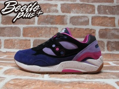 BEETLE PLUS FEATURE X SAUCONY G9 SHADOW 6 BARNEY 籌碼 德州撲克 賭城 紫黑 ROLLER S70183-2