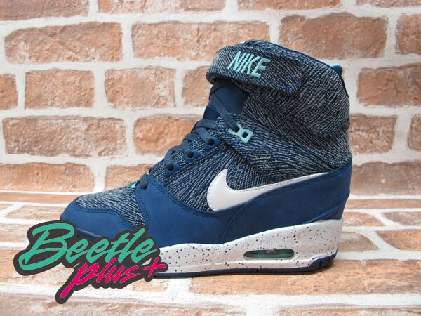 BEETLE PLUS 全新 NIKE WMNS AIR REVOLUTION SKY HI CITY 城市限定 TOKYO 東京 牛仔布紋 楔型 女鞋 內增高 633525-400 0