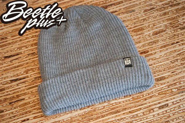 BEETLE PLUS 西門町經銷 全新 美國品牌 OBEY RUGER BEANIE ICON FACE 人臉 小車標 灰 反摺 針織帽 毛帽 0