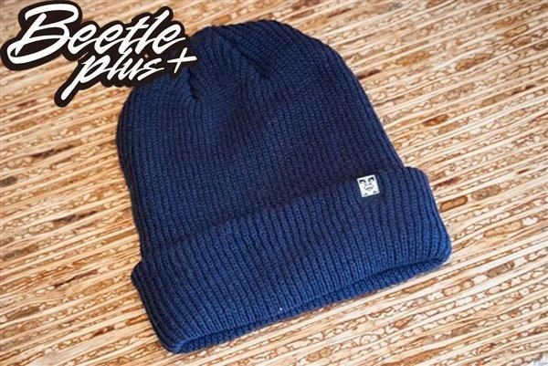 BEETLE PLUS OBEY RUGER BEANIE ICON FACE 人臉 小車標 深藍 反摺 針織帽 毛帽 1