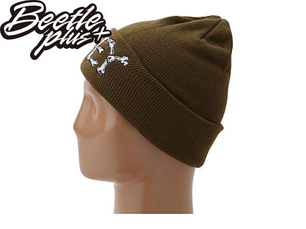 BEETLE PLUS 西門町經銷 全新 美國品牌 OBEY BRIGADE BEANIE 骨頭 文字 軍綠 毛帽 100030011DO OB-123 1