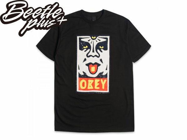 BEETLE PLUS 西門町經銷 全新 美國品牌 OBEY MEGA DOSE LOGO 黑 人臉彩繪塗鴉 NBA SUPREME NEW ERA 163080368BLK OB-186 0